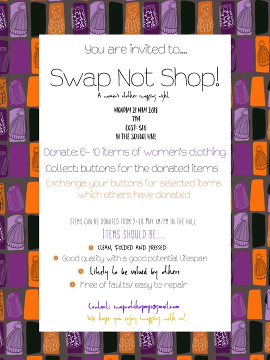 Swap not shop flyer